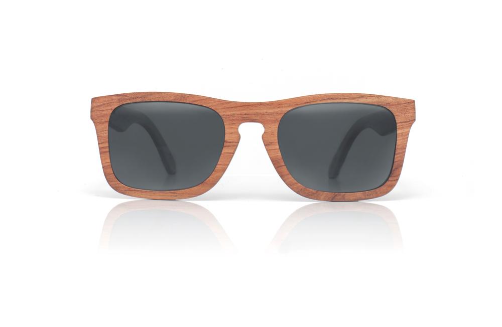 Wayfarer Sonnenbrille Holz